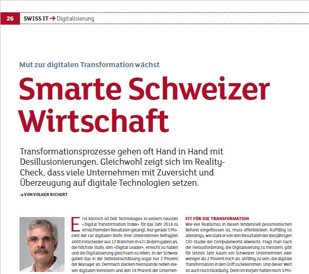 Smarte Schweizer Wirtschaft